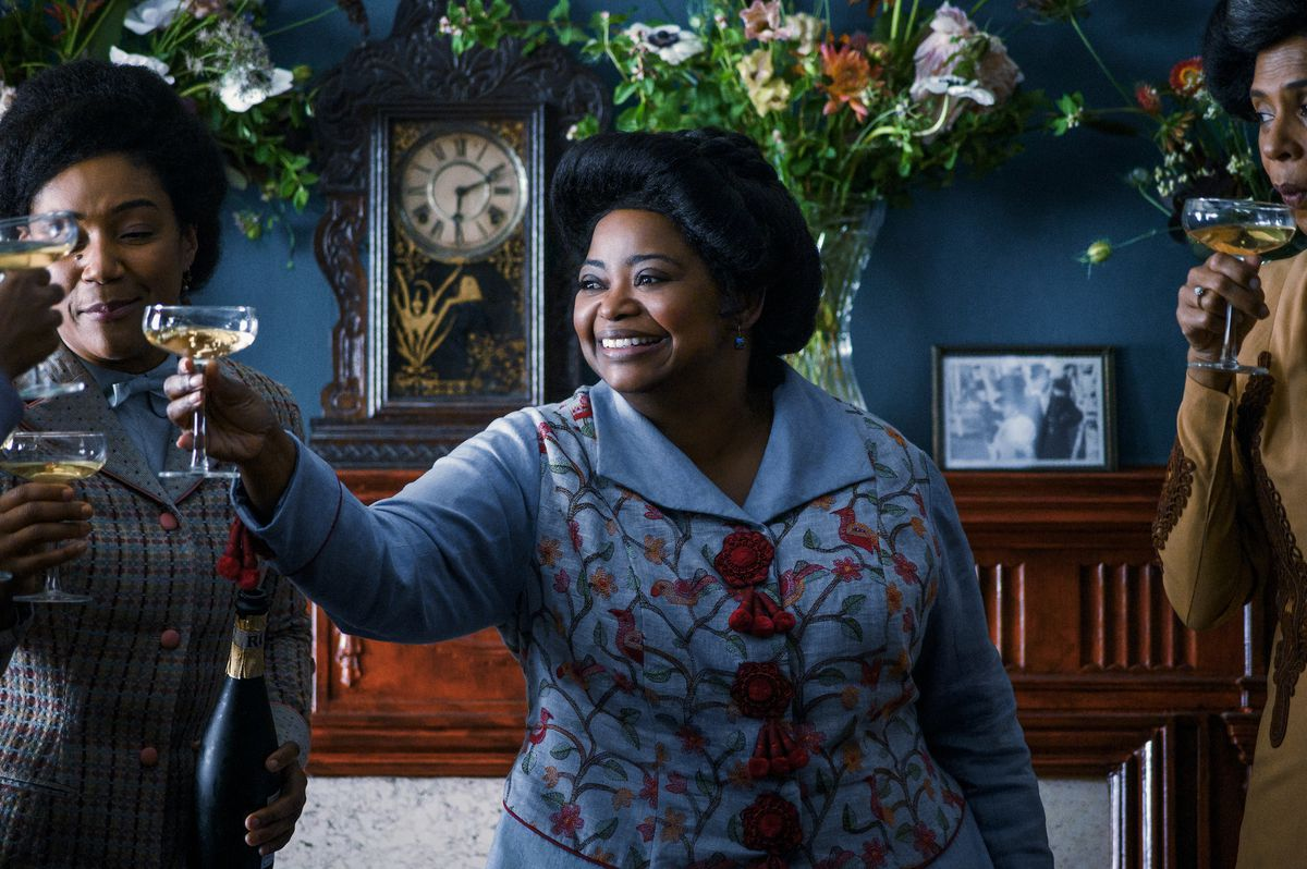 Octavia Spencer raises a coup glass in Self Made: Inspired by the Life of Madam C.J. Walker