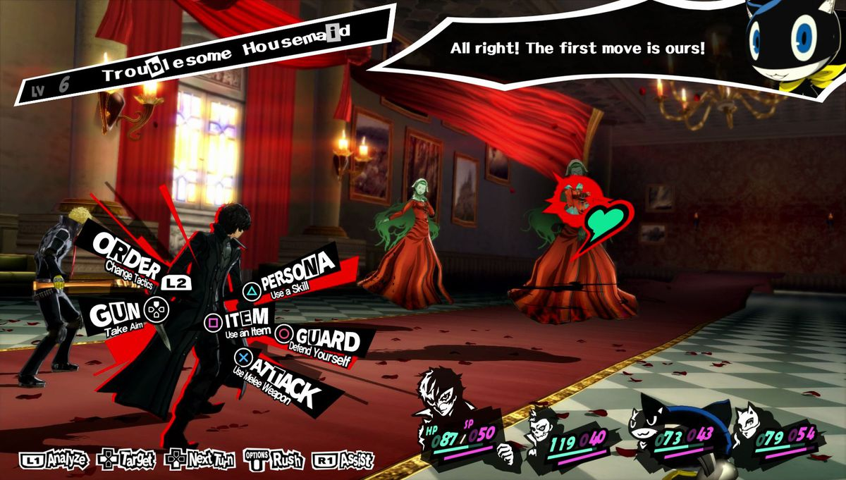 Persona 5 - fighting a Troublesome Housemaid