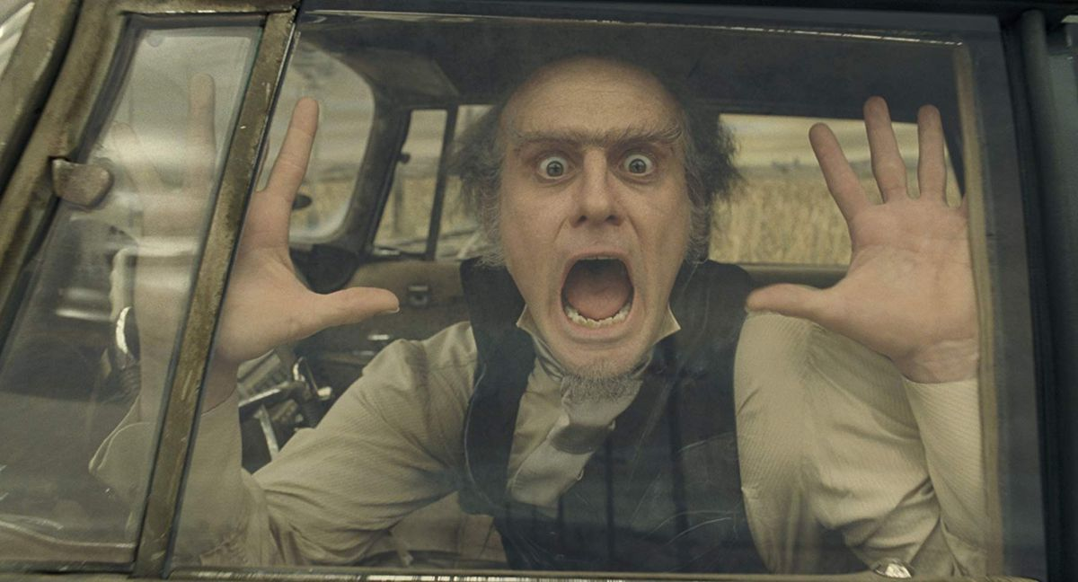 Jim Carrey as Count Olaf in a screenshot from A Series of Unfortunate Events