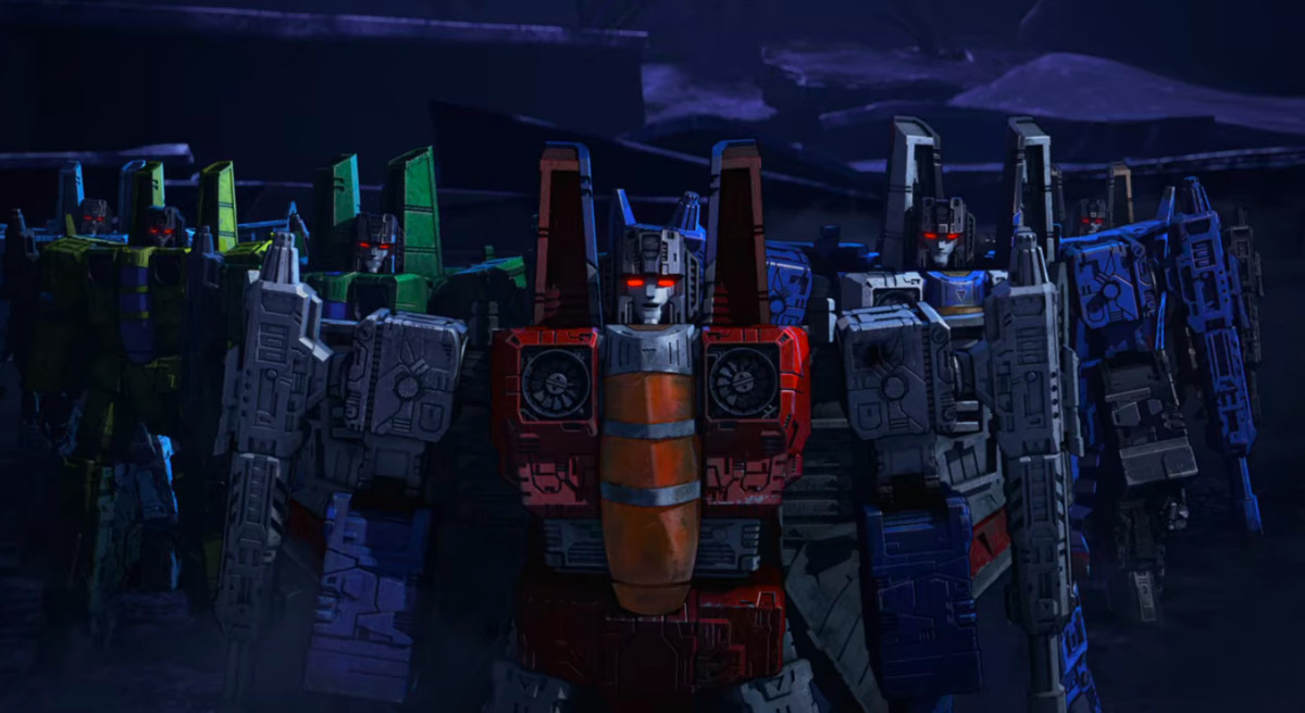 yellow Nova Storm, the blue Ion Storm, and the green Acid Storm in Transformers: War for Cybertron