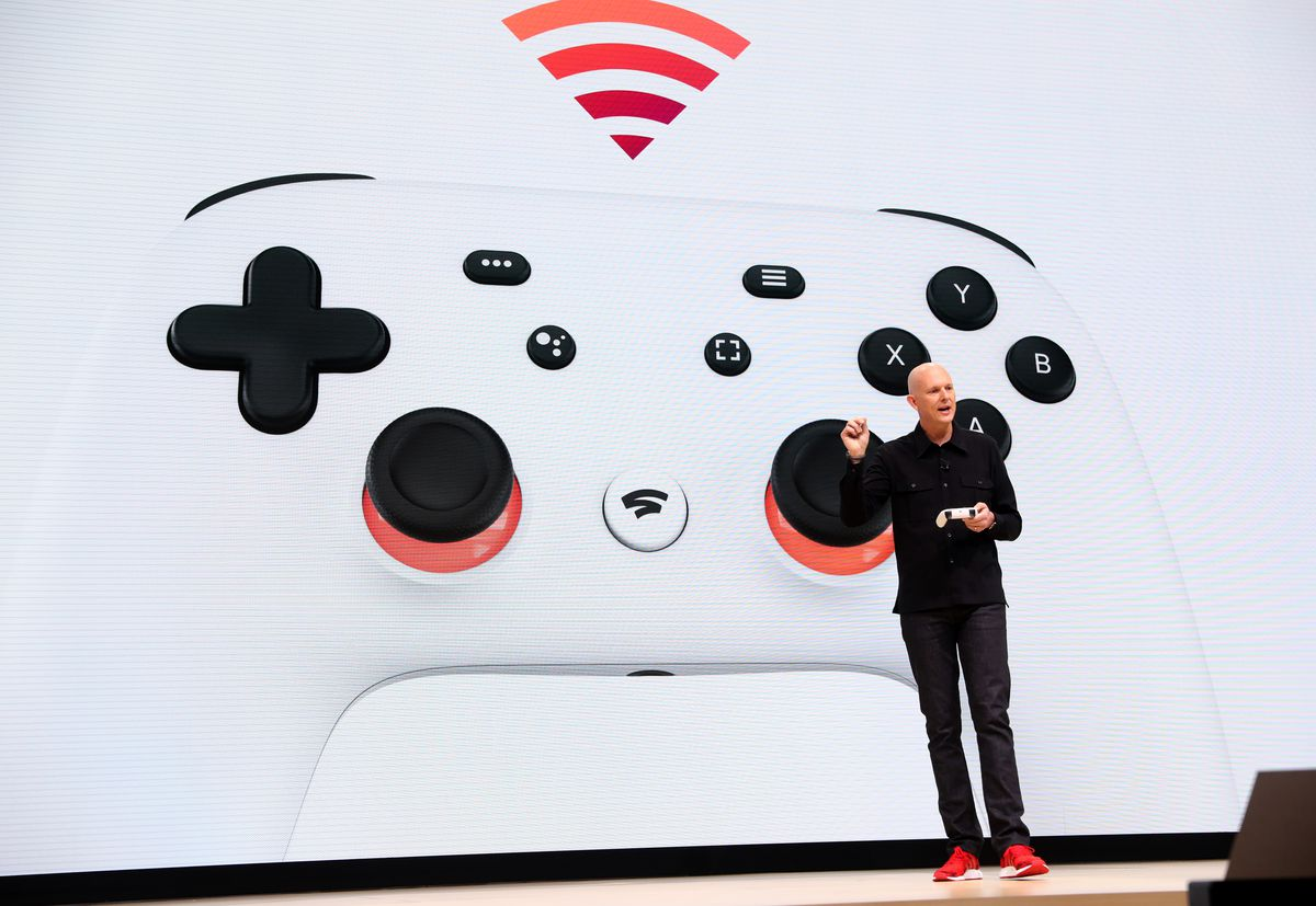 Phil Harrison presents the Google Stadia Controller
