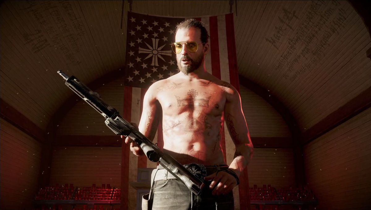 Far Cry 5 - Daniel Seed holding gun