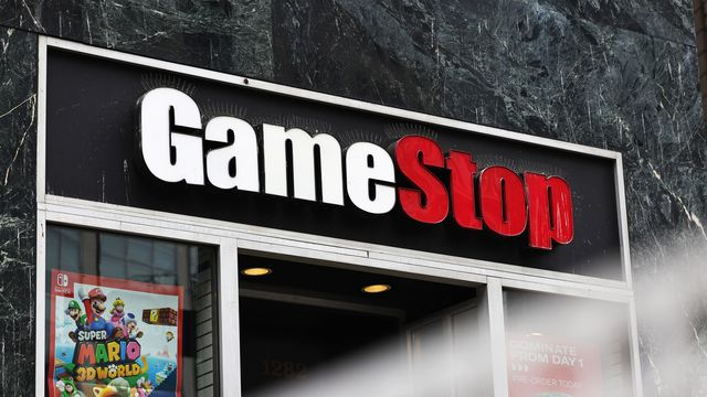 GameStop store signage is seen on January 27, 2021 in New York City