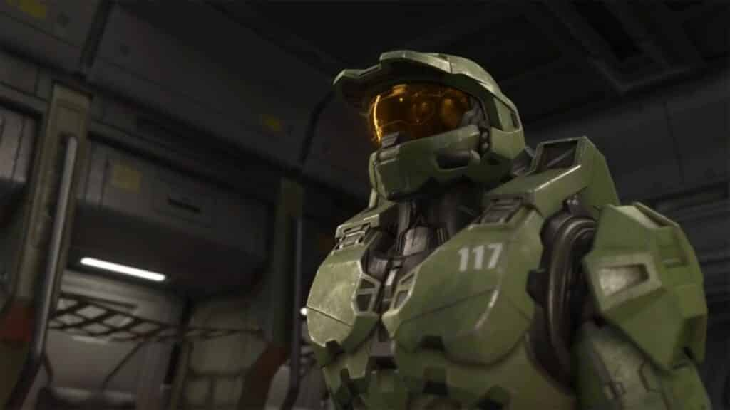 master chief staring off in halo infinite